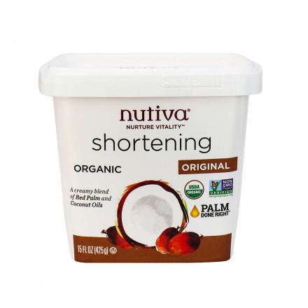 Front of Nutiva Organic Vegan Shortening, 425g