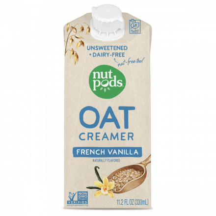 Nutpods Oat Creamer French Vanilla Unsweetened, 330mL