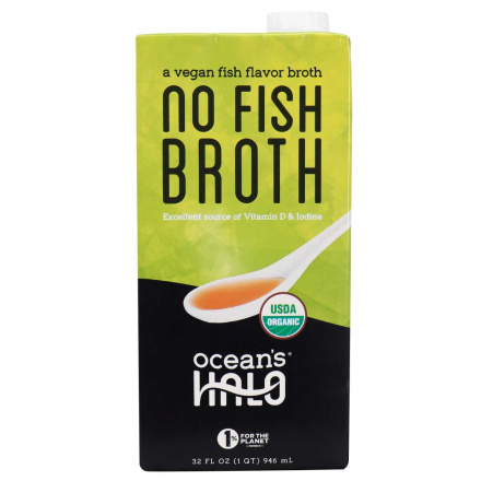 Front of Ocean's Halo Vegan No Fish Broth, 946mL