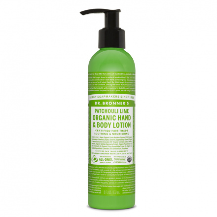 Dr. Bronner's Patchouli Lime Organic Hand & Body Lotion, 8oz