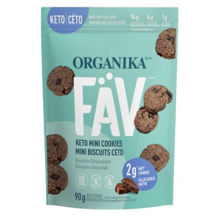 Organika FAV Keto Mini Cookies Double Chocolate Chips