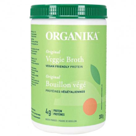 Front of Organika Original Veggie Broth Vegan Friendly Protein, 300g
