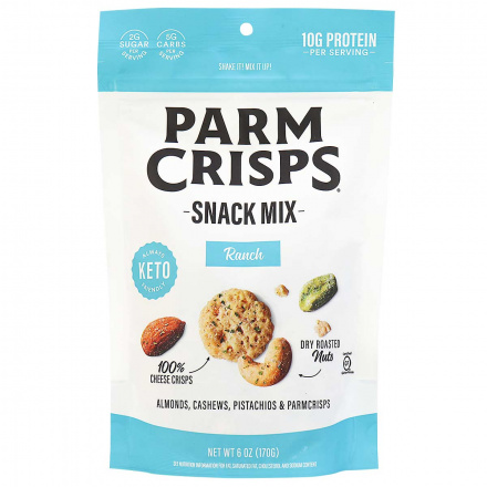 Front of Parm Crisps Snack Mix Ranch, 170g