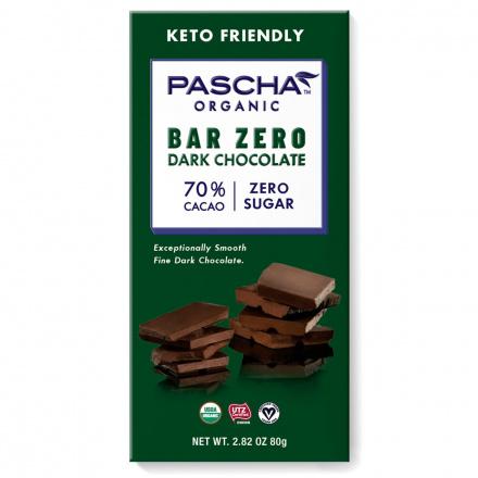 Pascha Bar Zero 70% Cacao Dark Chocolate, 80g