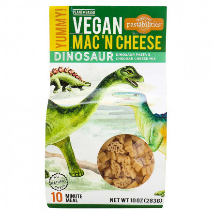 Front of Pastabilities Vegan Mac 'N Cheese Dinosaur, 283g