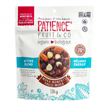 Front of Patience Fruit & Co Organic Moka Moments Active Blend,130g