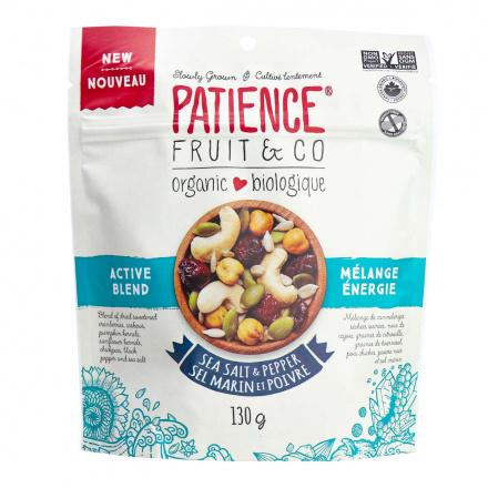 Front of Patience Fruit & Co Organic Sea Salt & Pepper Active Blend,130g