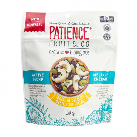 Front of Patience Fruit & Co Organic Tropical Delight Active Blend,130g