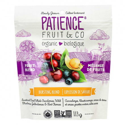 Front of Patience Organic Dry Fruit Blend, 113g
