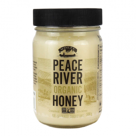 Peace River Organic Honey Creamed Unpasteurized, 500g