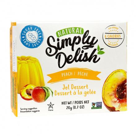 Simply Delish Sugar Free Peach Jel Dessert, 20g
