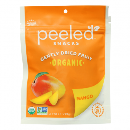 Peeled Snacks Organic Gently Dried Mango, 80g