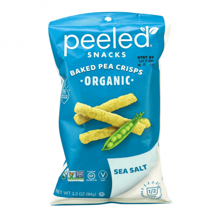 Peeled Snacks Baked Pea Crisps Sea Salt, 94g