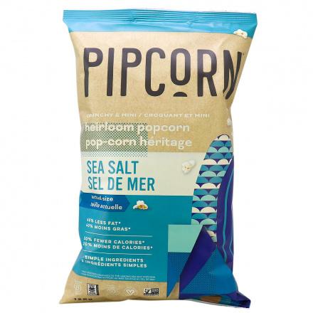 Pipcorn Crunchy Mini Heirloom Popcorn Sea Salt, 128g