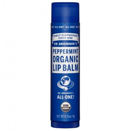 Dr. Bronner's Peppermint Organic Lip Balm, 0.15oz