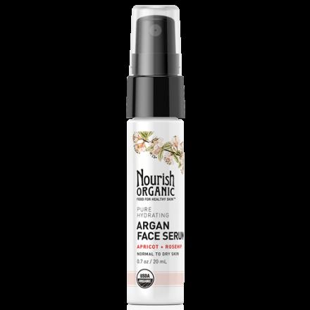 Nourish Organic Pure Hydrating Organic Argan Face Serum, 20ml