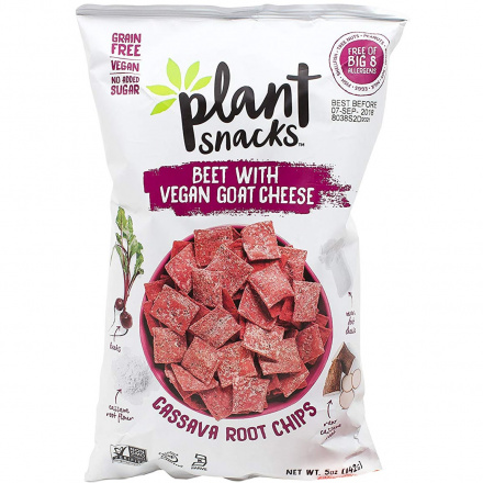 Plant Snacks Beets with Goat Cheese Cassava Root Chips, 142g