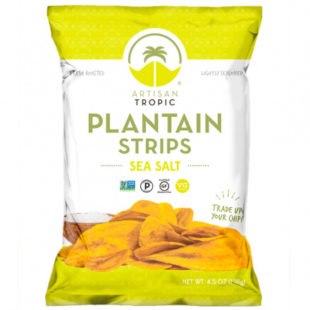 Artisan Tropic Plantain Strips Sea Salt, 128g
