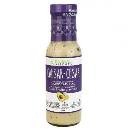 Front of Primal Kitchen Caesar Avocado Oil Dressing & Marinade, 236ml