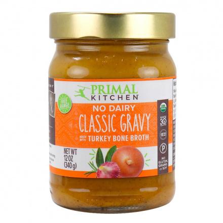 Primal Kitchen No Dairy Classic Gravy With Turkey Bone Broth, 340g