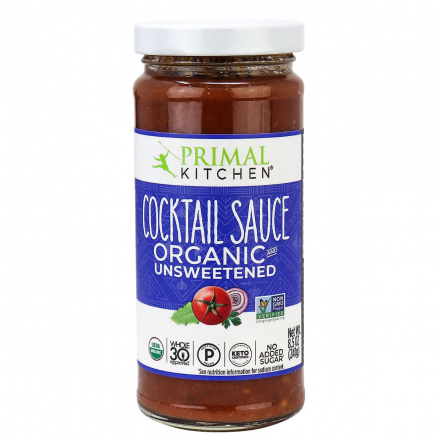 Front of Primal Kitchen Cocktail Sauce, Organic & Unsweetened, 241g