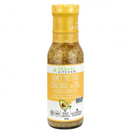 Front of Primal Kitchen Honey Mustard Vinaigrette With Avocado Oil, 236ml