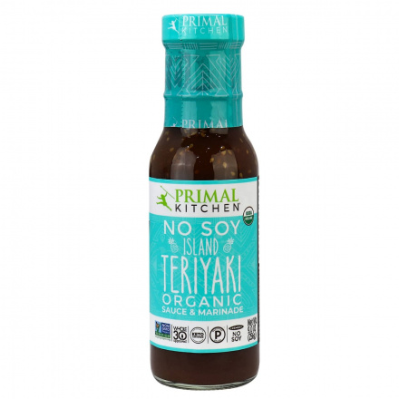 Front of Primal Kitchen Organic No Soy Island Teriyaki Sauce & Marinade, 256g
