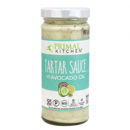 Front of Primal Kitchen Tartar Sauce with Avocado Oil, 213g