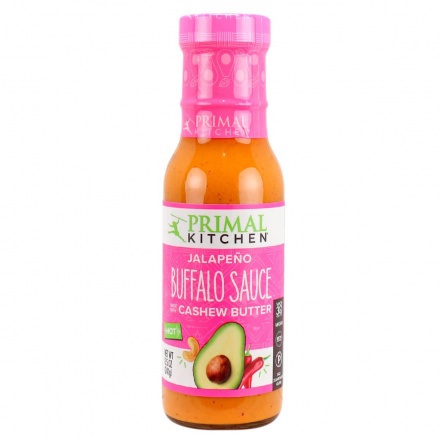 Front of Primal Kitchen Jalapeno Buffalo Sauce Made with Cashew Butter, 241g