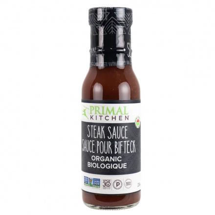 Front of Primal Kitchen Steak Sauce, Organic & Sugar-Free, 240g