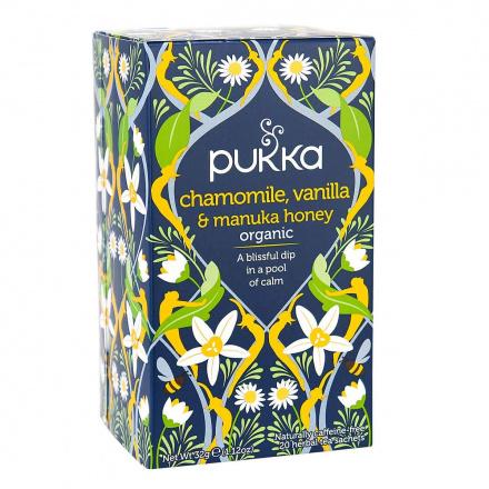 Pukka Organic Herbal Tea Chamomile, Vanilla & Manuka Honey, 20 Sachets