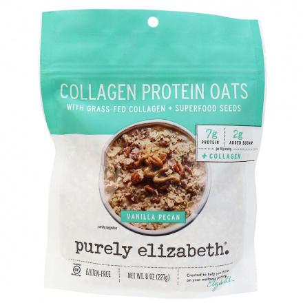 Purely Elizabeth Gluten-Free Grass-Fed Collagen Protein Oats Vanilla Pecan, 227g
