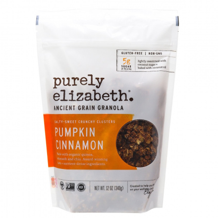 Purely Elizabeth Ancient Grain Granola Cereal Pumpkin Cinnamon, 340g