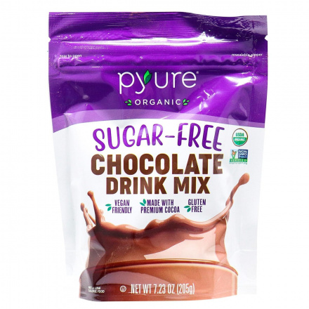 Pyure Organic Sugar-Free Keto Chocolate Drink Mix, 205g