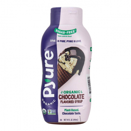 Front of Pyure Organic Sugar-Free Keto Chocolate Flavoured Syrup, 415ml