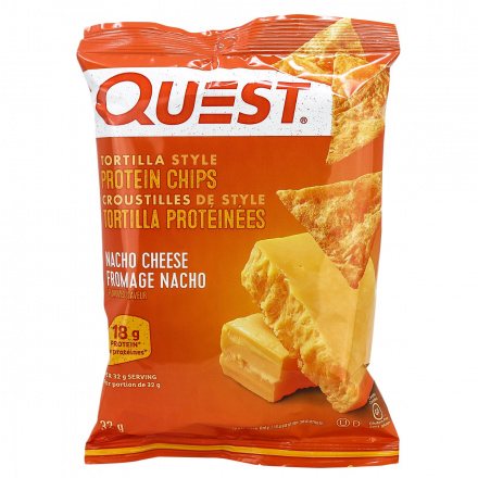 Quest Protein Tortilla Chips Nacho, 32g