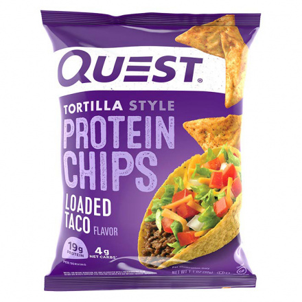 Quest Protein Tortilla Chips Loaded Taco, 32g
