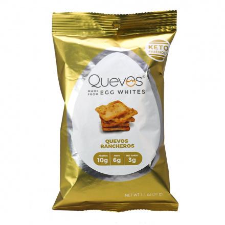 Quevos Keto Egg White Chips Quevos Rancheros, 31g
