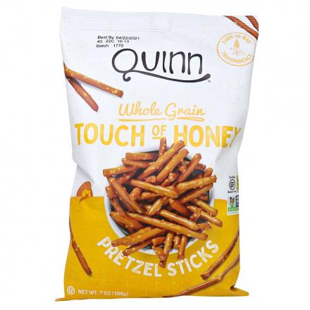 Quinn Gluten-Free Whole Grain Pretzel Sticks Touch of Honey, 198g