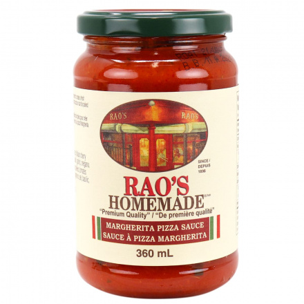 Front of Rao's Margherita Pizza Sauce, 370g