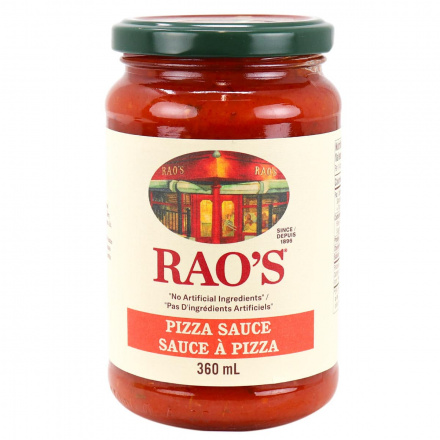 Front of Rao's Homemade Pizza Sauce, 370ml