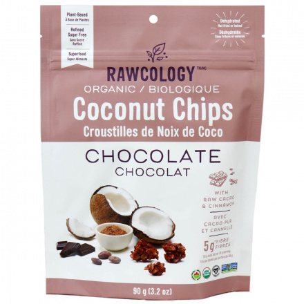 Rawcology Chocolate Cinnamon Superfood Coconut Chips, 90g
