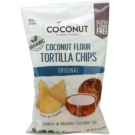 The Real Coconut Original Coconut Flour Tortilla Chips, 155g