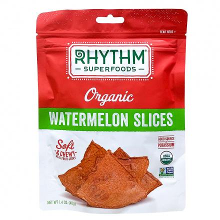 Rhythm Superfoods Organic Chewy Watermelon Slices, 40g
