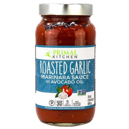 Front of Primal Kitchen Roasted Garlic Marinara Sauce, 680g