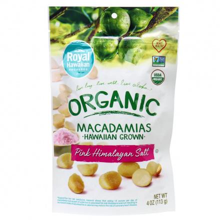 Royal Hawaiian Orchards Pink Himalayan Salt Macadamia Nuts, 113g