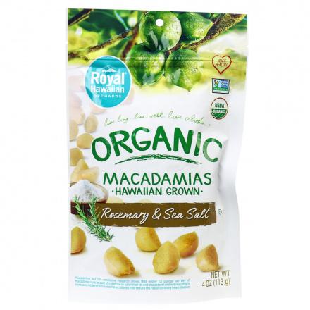 Royal Hawaiian Orchards Rosemary & Sea Salt Macadamia Nuts, 113g
