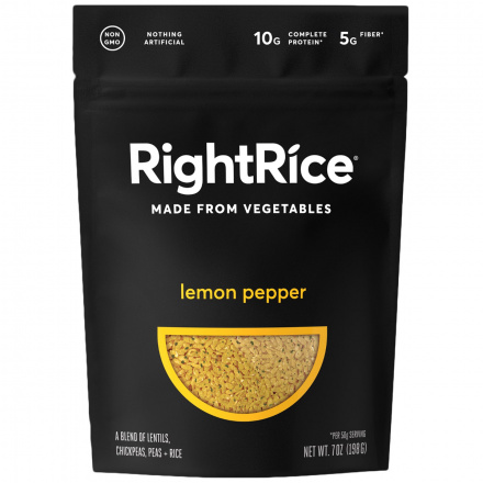 RightRice Lemon Pepper Rice Made from Vegetables, 198g