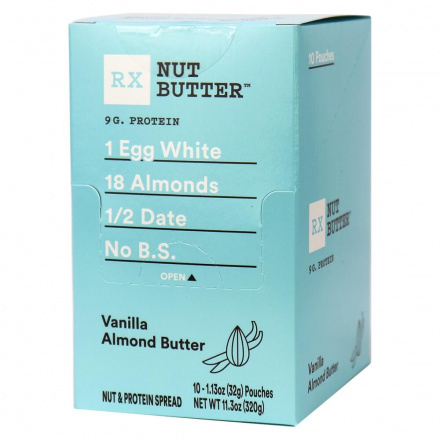 RX Nut Butter Vanilla Almond Butter, 10 squeeze packs