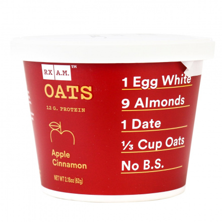 RX A.M. Oats Apple Cinnamon, 62g